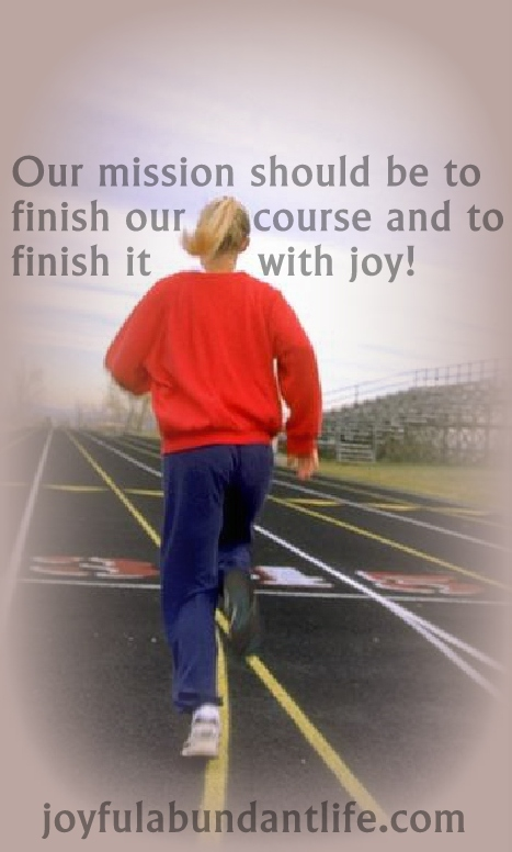 finish with joy