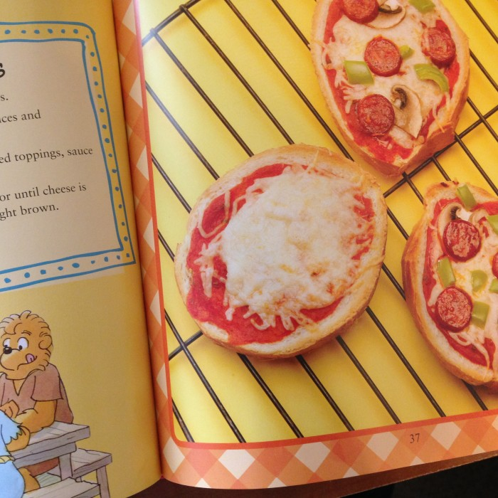 Your grandchildren can enjoy making their own mini pizza from the Berenstain Bear Country Cookbook