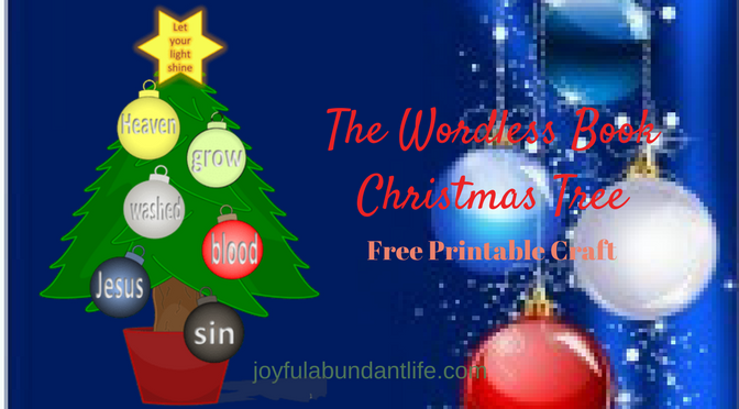 The Wordless Book Christmas Tree Gospel Craft for Children with Free Printable