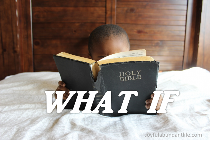 What if you do these following things? For if you do, then God will do so many wonderful things for you.