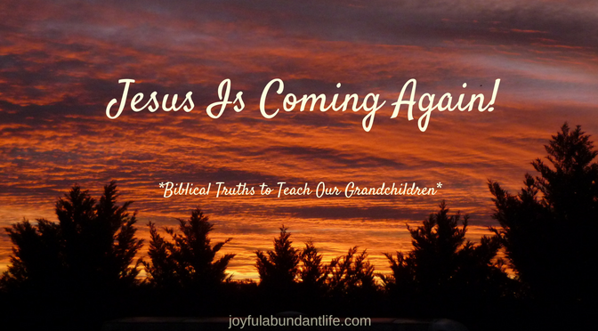 Jesus is coming again. He is coming soon! Lift up your heads, your redemption draweth night. It could be today!
