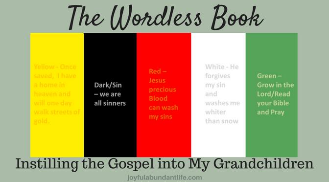 Wordless Book - Instilling Gospel