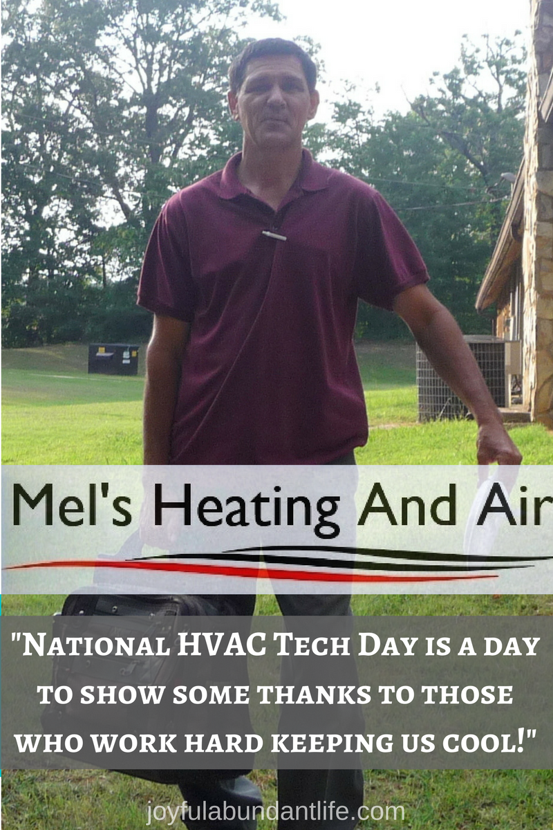 Tribute to the best HVAC tech I know on National HVAC Tech Day - Thank those who help to keep you cool. #nationalhvactechday