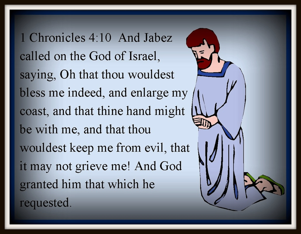 Prayer of Jabez Pray as Jabez prayed, to the point. He believed and God answered his effectual prayer of faith.