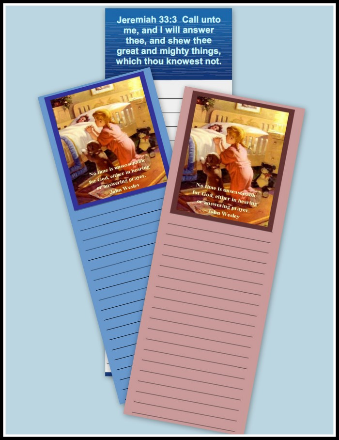 Free Printable Prayer List Bookmarks for Subscribing
