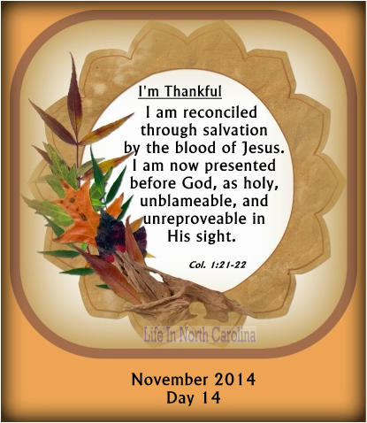 Have you been reconciled To God?  Only through the blood of Jesus can we stand righteous before Him.