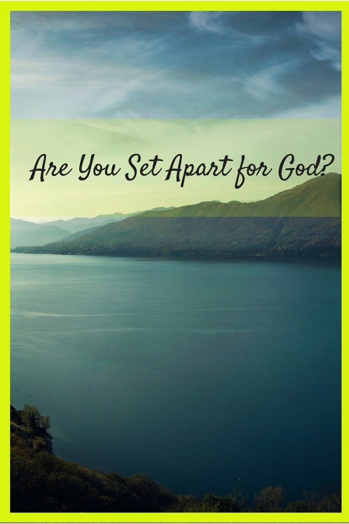 """Are You """"Set Apart"""" for God? A good Bible Study on the book of Leviticus"""