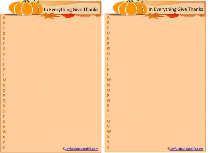 Thanksgiving ABC printable game pic