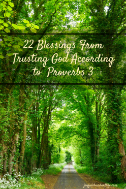 22 blessings FromTrusting God Accordingto Proverbs 3