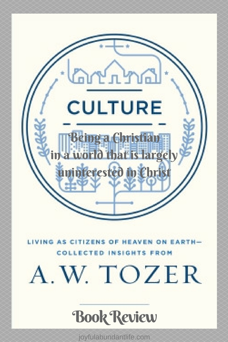 Book Review - Culture by A. W. Tozer
