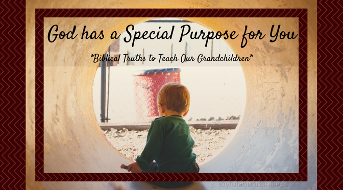 God has a special purpose and plan for each life no matter how young or old