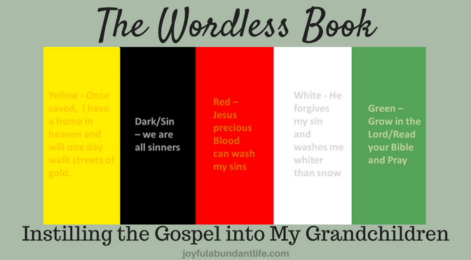 Wordless Book - Instilling Gospel