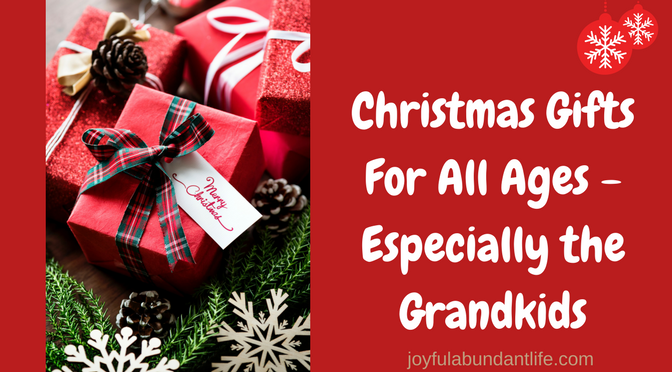 Christmas Gifts for All Ages - Especially the Grandkids - JOYFUL ...