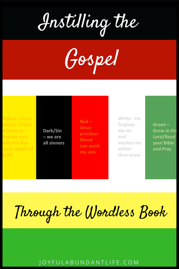Lively image in wordless book gospel printable